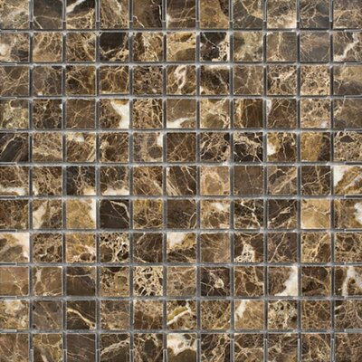 Emperador 1 x 1 Stone Mosaic Tile in Dark Polished