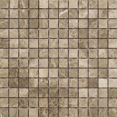 Emperador 1 x 1 Stone Mosaic Tile in Light Polished