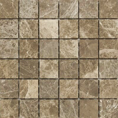 Emperador 2 x 2 Stone Mosaic Tile in Light Polished