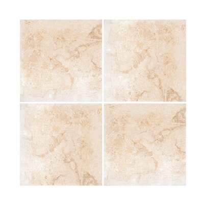 6 x 6 Travertine Field Tile in Ivory Honed