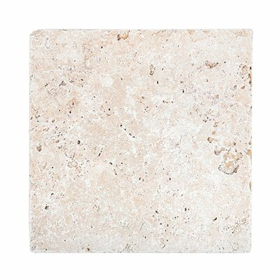 Tumbled 12 x 12 Travertine Field Tile in Ivory