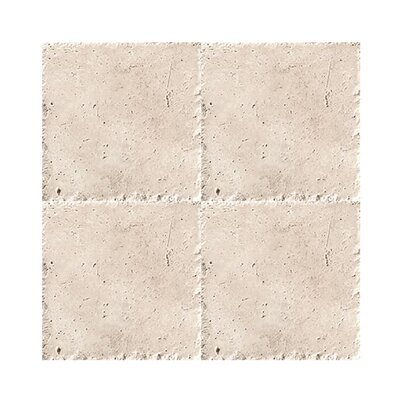 Chiseled 6 x 6 Travertine Field Tile in Beige
