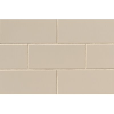 Nantucket 4.25 x 10 Ceramic Subway Tile in Gloss Dune