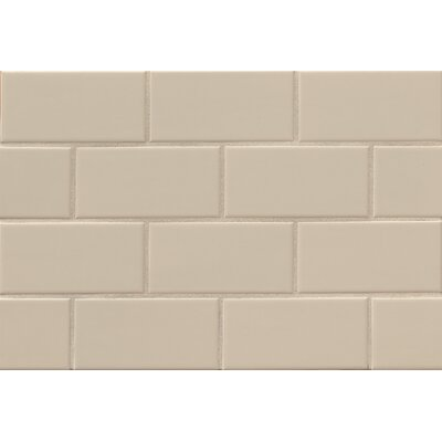 Nantucket 3 x 6 Ceramic Subway Tile in Matte Dune
