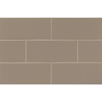 Nantucket 4.25 x 10 Ceramic Subway Tile in Gloss Sea Otter