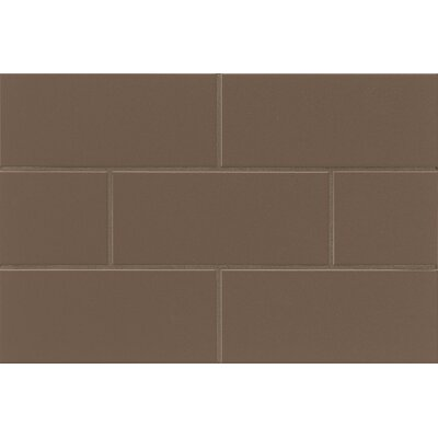 Nantucket 4.25 x 10 Ceramic Subway Tile in Gloss Driftwood