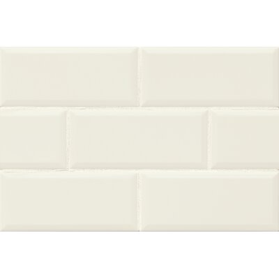 Nantucket 4.25 x 10 Beveled Edge Ceramic Subway Tile in Gloss Lighthouse