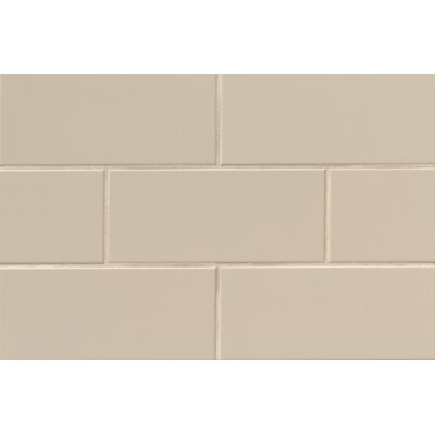 Nantucket 4.25 x 10 Ceramic Subway Tile in Matte Dune