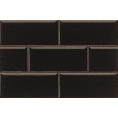 Nantucket 4.25 x 10 Beveled Edge Ceramic Subway Tile in Gloss Stormy Night