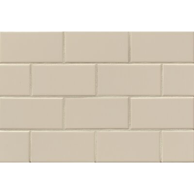Nantucket 3 x 6 Ceramic Subway Tile in Gloss Dune