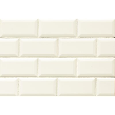 Nantucket 3 x 6 Beveled Edge Ceramic Subway Tile in Ice White
