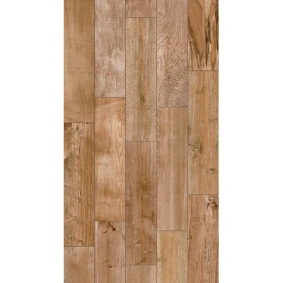 Shuffle 6 x 24 Porcelain Wood Tile in Natural