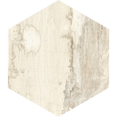 Docklight Hexagon 9.5 x 11 Porcelain Wood Tile in Sunset