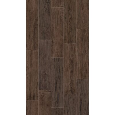 Provident 8 x 32 Porcelain Wood Tile in Brunette