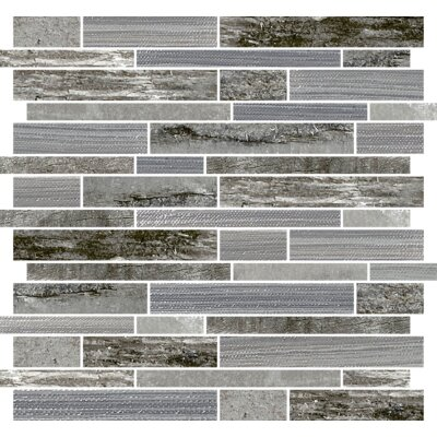Docklight 12 x 12 Porcelain Mosaic Tile in Wind