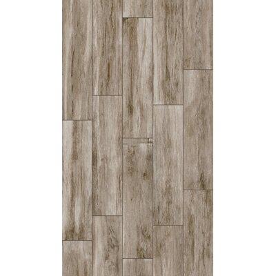 Provident 8 x 32 Porcelain Wood Tile in Brunette