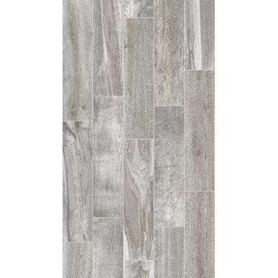 Shuffle 6 x 24 Porcelain Wood Tile in Ash