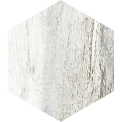 Docklight Hexagon 9.5 x 11 Porcelain Wood Tile in Wavecrest