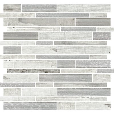 Docklight 12 x 12 Porcelain Mosaic Tile in Magpie