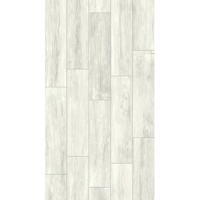 Provident 8 x 32 Porcelain Wood Tile in Snow