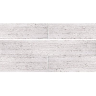 Wood Grain 4 x 24 Marble Field Tile in Gray