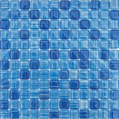 San Simeon 1 x 1 Glass Mosaic Tile
