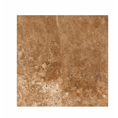 18 x 18 Travertine Field Tile in Dark Walnut Honed