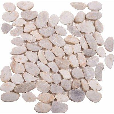 Sliced Stone Pebble Tile in Sand