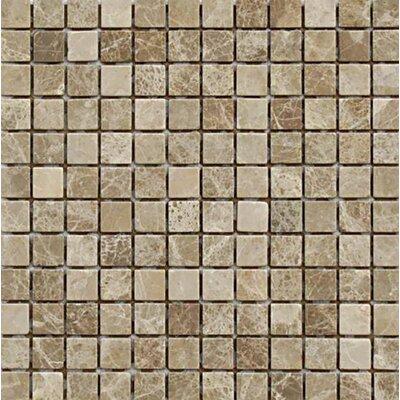 Emperador Tumbled 1 x 1 Stone Mosaic Tile in Light