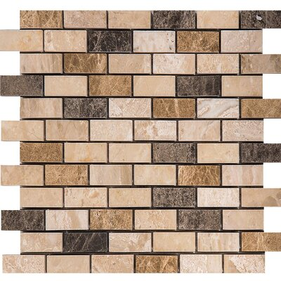 Valencia Mix Marble 1 x 2 Stone Mosaic Tile Polished