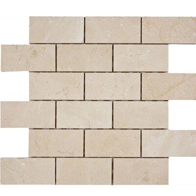 Crema Marfil Brick 2 x 4 Stone Mosaic Tile Honed