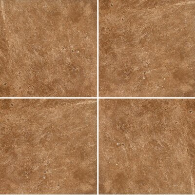 12 x 12 Travertine Field Tile in Dark Walnut Honed