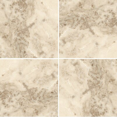 12 x 12 Marble Field Tile in Cappuccino Polished