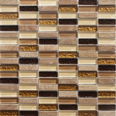 La Jolla Stacked 0.625 x 2 Glass Mosaic Tile
