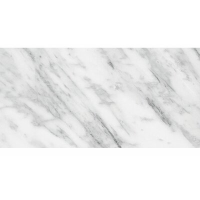 "Verona Marble 12"" x 24"" Stone Tile in Bianco Polished PVTL1529 27788119"