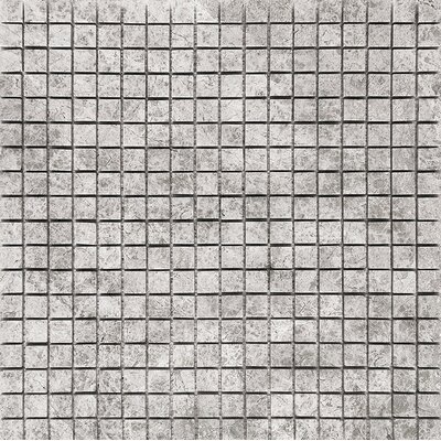 Marble 0.625 x 0.625 Stone Mosaic Tile in Antique Gray Polished