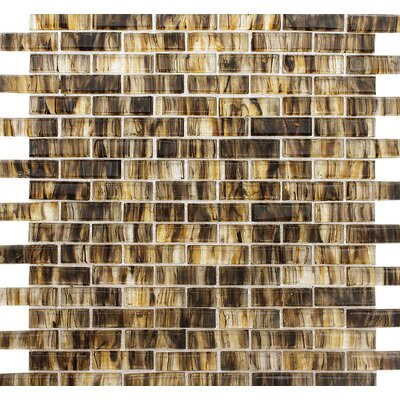 Stockton Brick 0.625 x 2 Glass Mosaic Tile