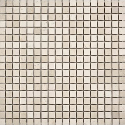 Crema Marfil Tumbled 0.625 x 0.625 Stone Mosaic Tile