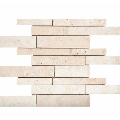 Atrium Random Sized Stone Mosaic Tile in Ivory