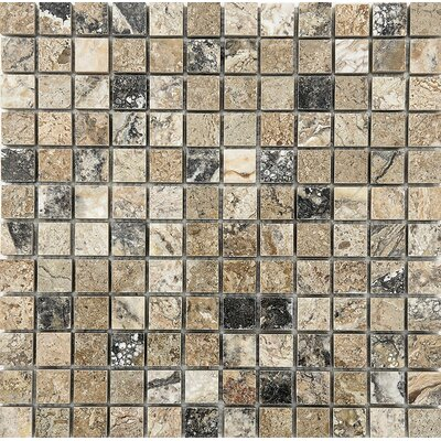 1 x 1 Stone Mosaic Tile in Antico Polished