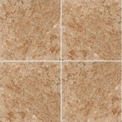 12 x 12 Travertine Field Tile in Light Walnut Honed