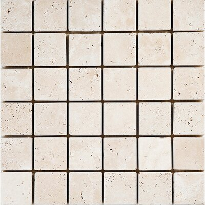 Tumbled 2 x 2 Stone Mosaic Tile in Ivory