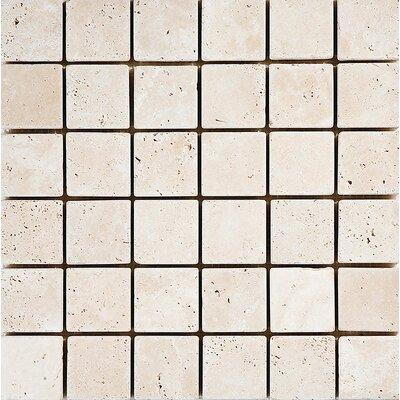 Tumbled 2 x 2 Stone Mosaic Tile in Ivory
