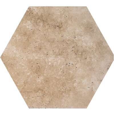 8 x 8 Travertine Field Tile in Walnut