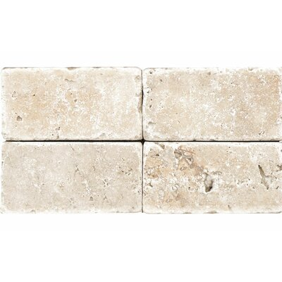 Rustic Tumbled 4 x 8 Stone Tile in Ivory