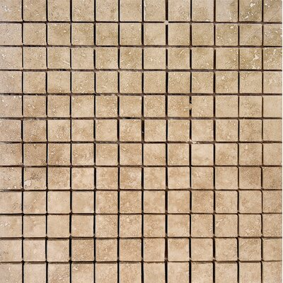 1 x 1 Stone Mosaic Tile in Walnut