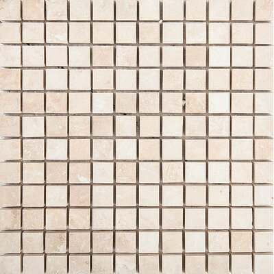 1 x 1 Stone Mosaic Tile in Ivory