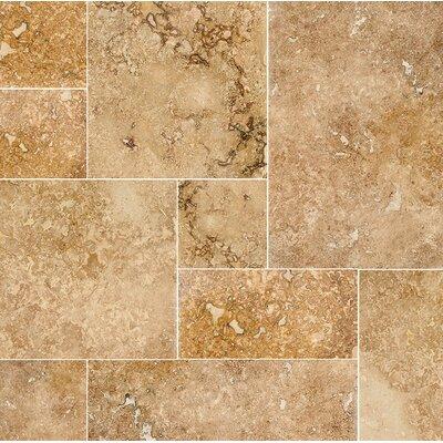 Modena Random Sized Travertine Field Tile in Beige/Gold