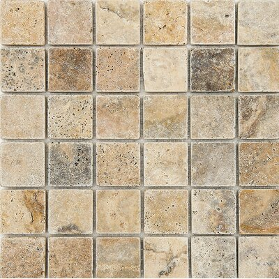 Scabos Tumbled 2 x 2 Stone Mosaic Tile