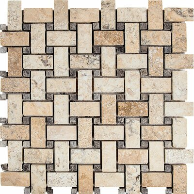 Philadelphia Basketweave Stone Mosaic Tile